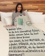 "Sohn- Mama and Papa- Large Fleece Blanket - 60"" x 80"" aos-coral-fleece-blanket-60x80-lifestyle-front-05"