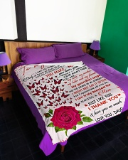 """To My Dad - Daughter Large Fleece Blanket - 60"""" x 80"""" aos-coral-fleece-blanket-60x80-lifestyle-front-01"""