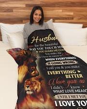 "To My Husband - Wife Large Fleece Blanket - 60"" x 80"" aos-coral-fleece-blanket-60x80-lifestyle-front-05"