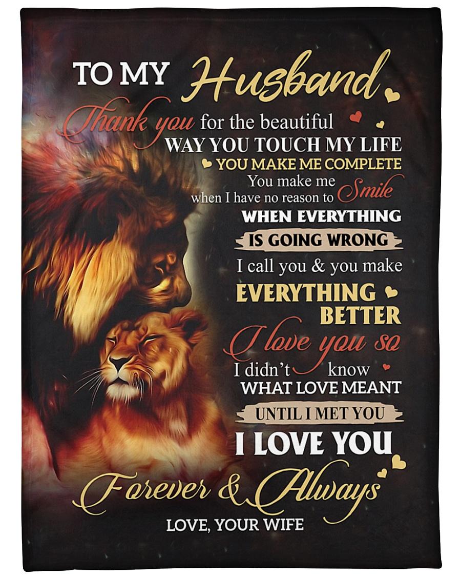 """To My Husband - Wife Large Fleece Blanket - 60"""" x 80"""""""