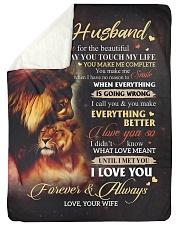 "To My Husband - Wife Large Sherpa Fleece Blanket - 60"" x 80"" thumbnail"