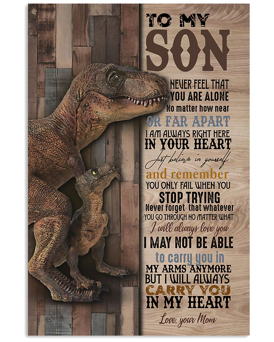 To My  Son - Mom 16x24 Poster