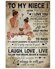 To My  Niece - Auntie 16x24 Poster front