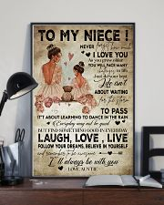 To My  Niece - Auntie 16x24 Poster lifestyle-poster-2