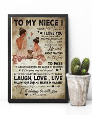 To My  Niece - Auntie 16x24 Poster lifestyle-poster-8