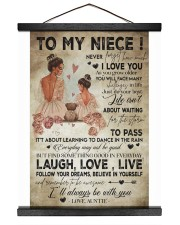 To My  Niece - Auntie 16x20 Black Hanging Canvas thumbnail