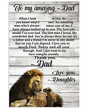 TO MY AMAZING DAD - DAUGHTER 11x17 Poster front
