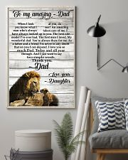 TO MY AMAZING DAD - DAUGHTER 11x17 Poster lifestyle-poster-1