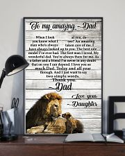 TO MY AMAZING DAD - DAUGHTER 11x17 Poster lifestyle-poster-2