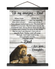 TO MY AMAZING DAD - DAUGHTER 12x16 Black Hanging Canvas thumbnail