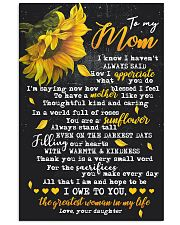 To My Mom - Daughter 16x24 Poster front