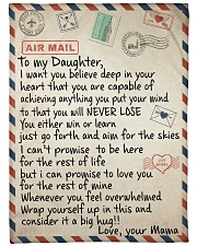 """To My Daughter - Mama Large Fleece Blanket - 60"""" x 80"""" front"""