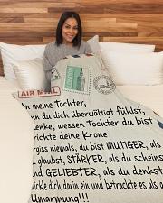 "Tochter - In Liebe deine Eltern Large Fleece Blanket - 60"" x 80"" aos-coral-fleece-blanket-60x80-lifestyle-front-05"