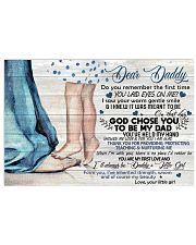 TO MY DAD - DAUGHTER 17x11 Poster front