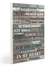 To My Daughter - Dad 20x30 Gallery Wrapped Canvas Prints thumbnail