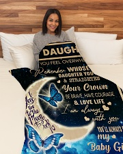 "To My Daughter - Mom  Large Fleece Blanket - 60"" x 80"" aos-coral-fleece-blanket-60x80-lifestyle-front-05"