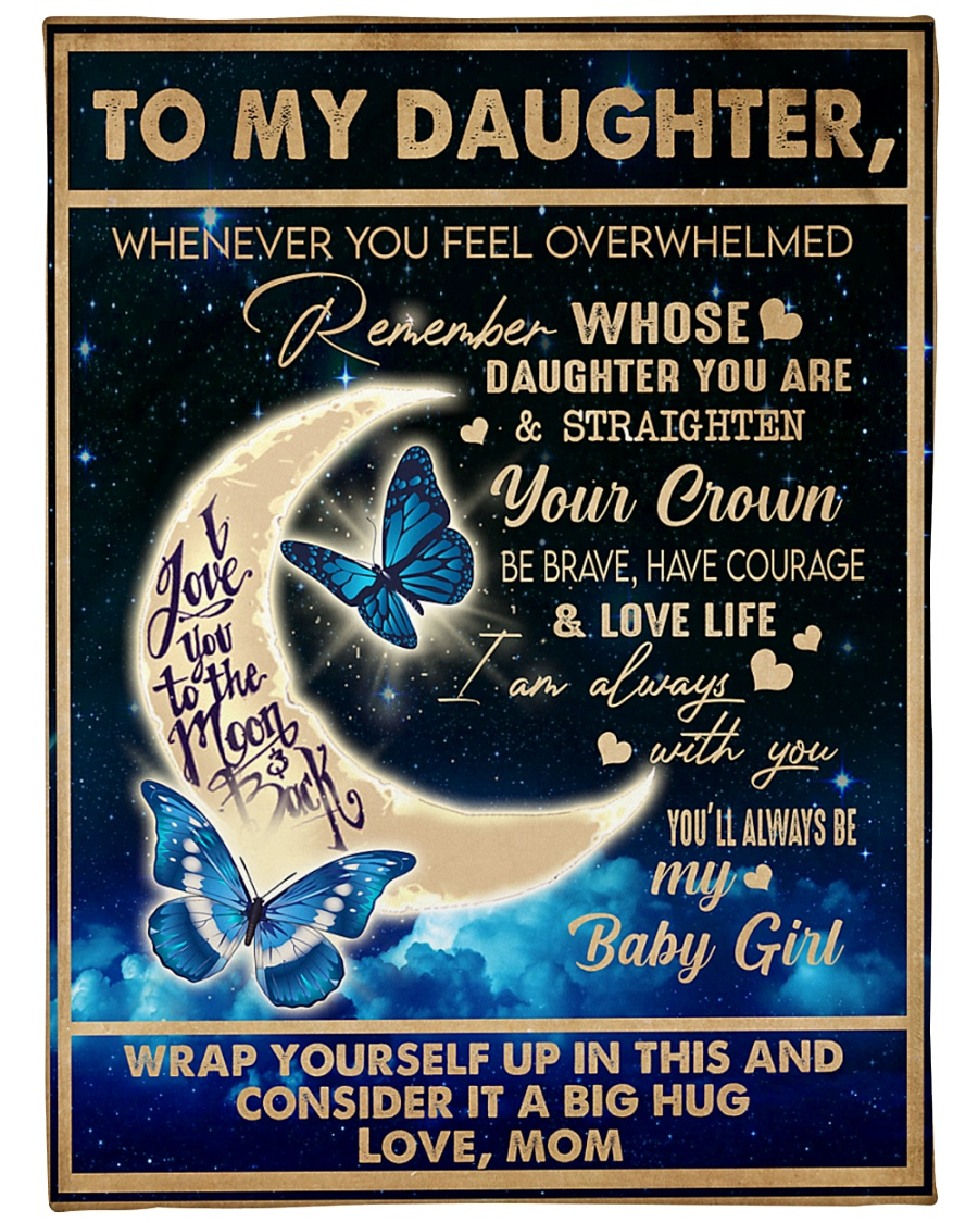 "To My Daughter - Mom  Large Fleece Blanket - 60"" x 80"""