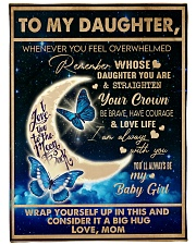 "To My Daughter - Mom  Large Fleece Blanket - 60"" x 80"" thumbnail"