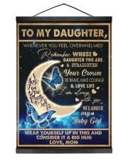 To My Daughter - Mom  Hanging Canvas tile