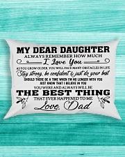 MY DEAR DAUGHTER - DAD Rectangular Pillowcase aos-pillow-rectangle-front-lifestyle-5