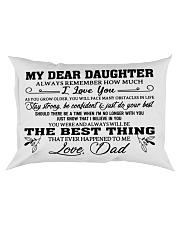 MY DEAR DAUGHTER - DAD Rectangular Pillowcase front