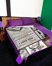 "To My Wife - Husband Large Fleece Blanket - 60"" x 80"" aos-coral-fleece-blanket-60x80-lifestyle-front-01"