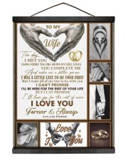 To My Wife - Husband 16x20 Black Hanging Canvas thumbnail