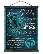 Dear Daddy- Daughter 16x20 Black Hanging Canvas thumbnail