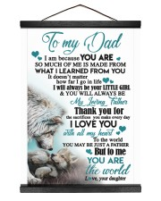 TO MY DAD - DAUGHTER 12x16 Black Hanging Canvas thumbnail