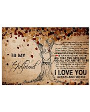 To My Girlfriend Horizontal Poster tile