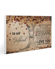 To My Girlfriend Gallery Wrapped Canvas Prints tile