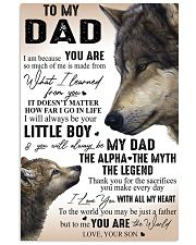 TO MY DAD - SON 11x17 Poster front