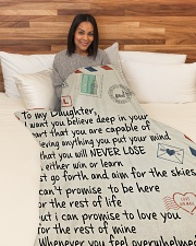 """To My Daughter - Mum Large Fleece Blanket - 60"""" x 80"""" aos-coral-fleece-blanket-60x80-lifestyle-front-05"""