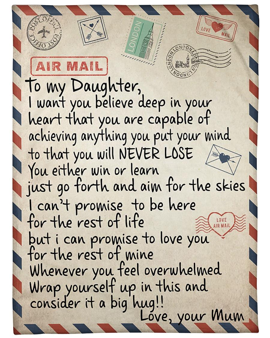 "To My Daughter - Mum Large Fleece Blanket - 60"" x 80"""