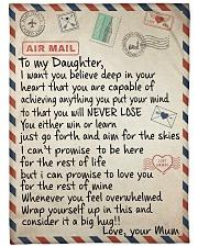 "To My Daughter - Mum Large Fleece Blanket - 60"" x 80"" front"
