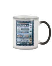 To My Son - Mom Color Changing Mug tile