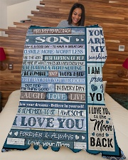 "To My Son - Mom Large Fleece Blanket - 60"" x 80"" aos-coral-fleece-blanket-60x80-lifestyle-front-04"