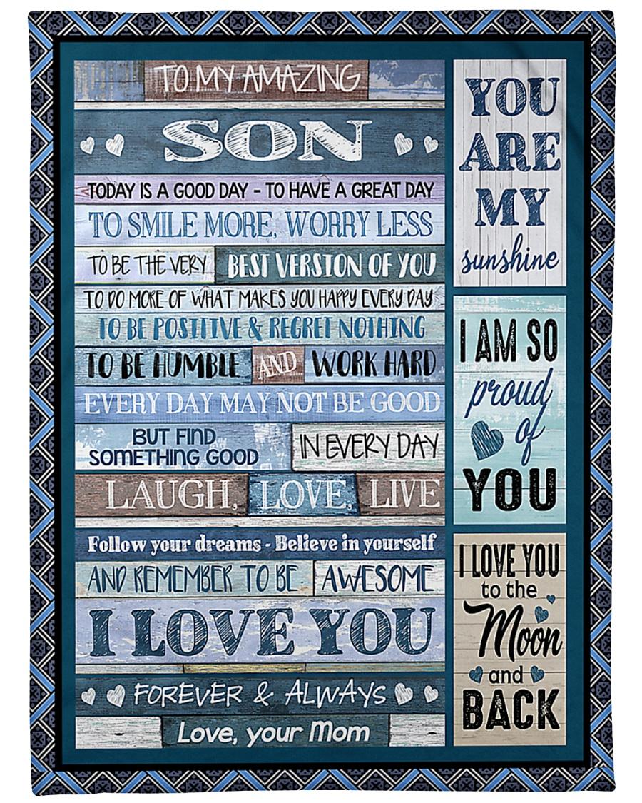 "To My Son - Mom Large Fleece Blanket - 60"" x 80"""