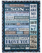 "To My Son - Mom Large Fleece Blanket - 60"" x 80"" thumbnail"