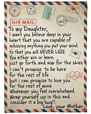 "To My Daughter - Mother Large Fleece Blanket - 60"" x 80"" front"