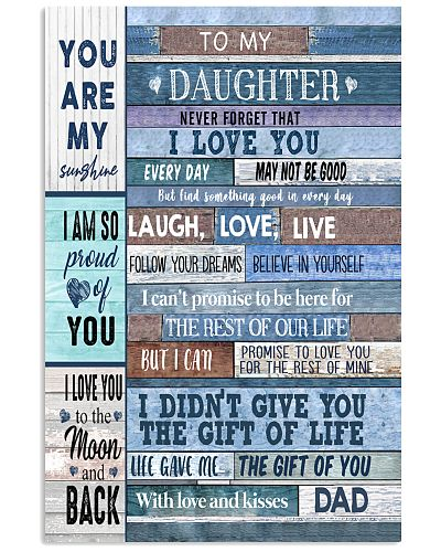 TO MY DEAR DAUGHTER - DAD