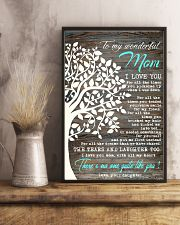To My Mom - Daughter 16x24 Poster lifestyle-poster-3
