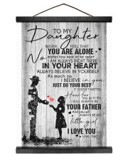 To My Daughter - Dad 12x16 Black Hanging Canvas thumbnail
