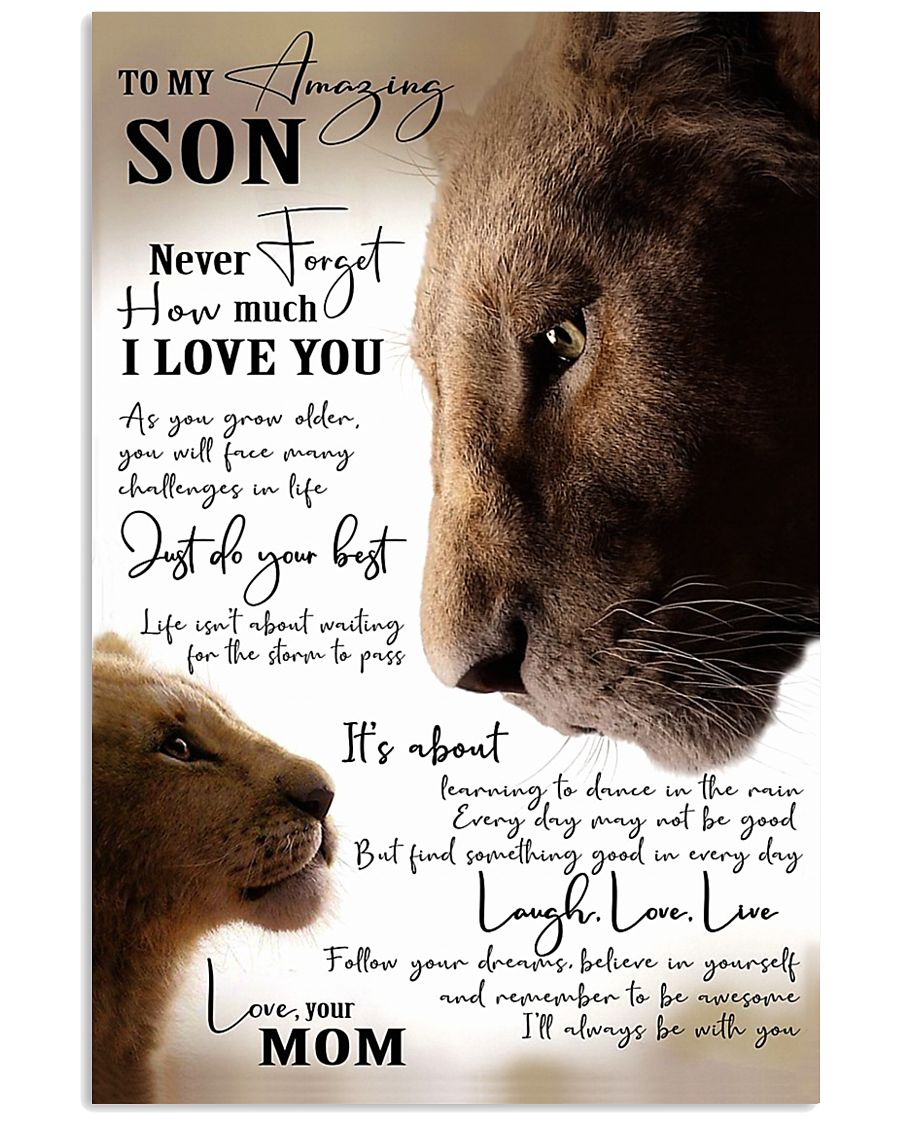 To My Amazing Son - Mom 16x24 Poster