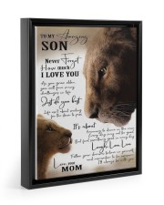 To My Amazing Son - Mom 11x14 Black Floating Framed Canvas Prints thumbnail