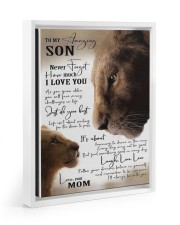 To My Amazing Son - Mom 11x14 White Floating Framed Canvas Prints thumbnail