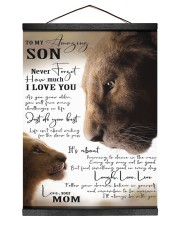 To My Amazing Son - Mom 12x16 Black Hanging Canvas thumbnail