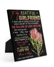 To My Beatiful Girlfriend 8x10 Easel-Back Gallery Wrapped Canvas thumbnail