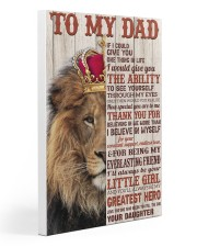 TO MY DAD - DAUGHTER 20x30 Gallery Wrapped Canvas Prints thumbnail