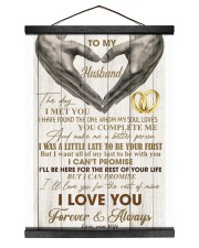 To My Husband - WIfe 12x16 Black Hanging Canvas thumbnail